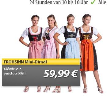 Original Frohsinn Dirndl in 4 verschiedenen Farben für nur 59,99€ inkl. Versand @MeinPaket