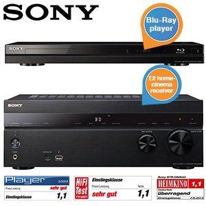 iBOOD: Sony Paket, bestehend aus STR-DN840 Receiver und BDP-A6000 Blu-ray Player