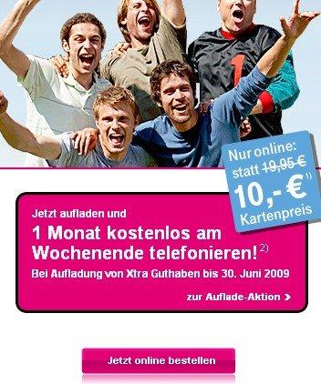 Kostenlose Xtra Card Prepaid-Karte
