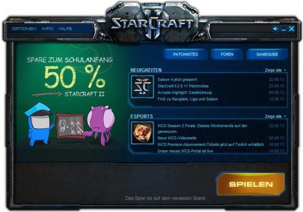 50% auf StarCraft II und 25% auf StarCraft II: Heart of the Swarm