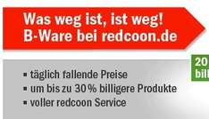 Redcoon B-Ware Abverkauf - Preise sinken täglich um 1%
