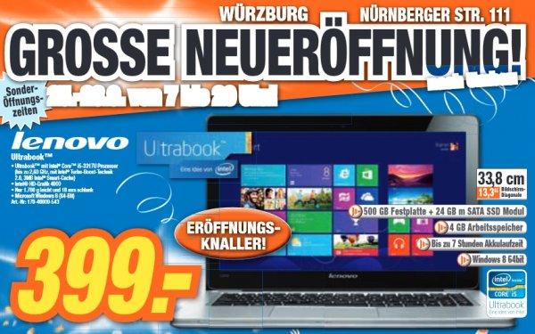 [Lokal Würzburg] Lenovo Ultrabook (i5, 24GB SSD, 4GB RAM)