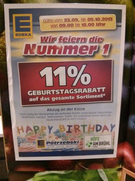 [Lokal] Höfe am Brühl in Leipzig feiert Geburtstag - verschiedene Angebote, z.B. Edeka 11% auf alles zwischen 9 und 12 Uhr