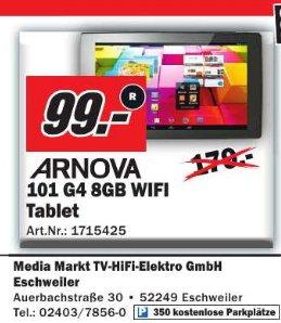 [Media Markt Eschweiler ] Archos Arnova Dual-Core Tablet PC 10.1 Zoll  (25,65cm) 101 G4 WiFi 8GB schwarz 99€