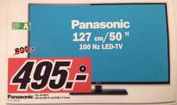 50 Zoll Panasonic TX-L 50 EM 6 für 495€ @ Media Markt Schlussverkauf