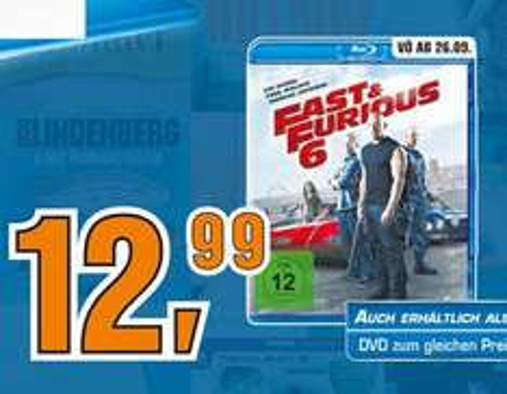 [ LOKAL Saturn Köln ]  Fast & Furious 6  Blu-ray  12,99€  ( 8,67€ pro Stück bei der 3 für 2 Aktion  )