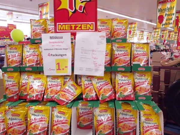 [Lokal] Ulmen 4x Mildessa Sauerkraut 3 Minuten paprika für 1 euro