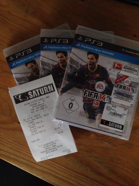 [LOKAL Saturn Münster] FIFA14 (PS3/Xbox360) für 43,33€ (3-für-2)