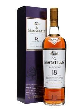 Macallan Scotch Single Malt Whisky 18yrs (achtzehn Jahre alt) Sherry Oak @ TheWhiskyExchange