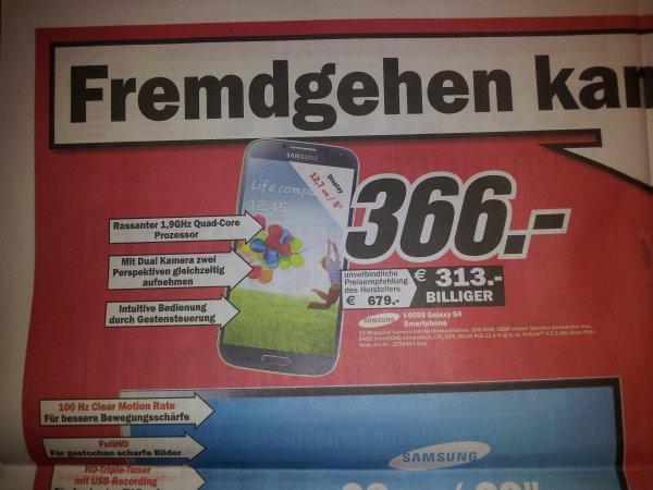 (Lokal) Media Markt Würzburg Samsung Galaxy S4