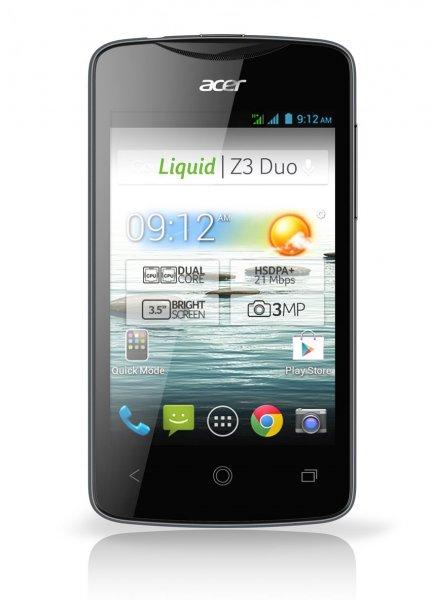 Acer Liquid Z3 Dual SIM schwarz [Android 4.2.2, Dual Core 1,0 GHz, 512MB RAM) - AMAZON FR