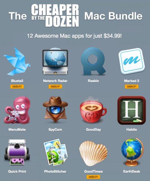 (MAC) Das Cheaper By The Dozen Bundle mit 12 Apps für nur 25,92€