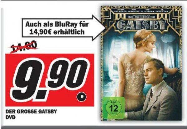 """Bisher noch kein günstigeres Angebot enteckt: DVD """"Der große Gatsby"""" auf 9,90 reduziert."""