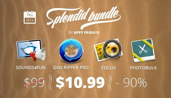 (MAC) Das Splendid Bundle von Appy Fridays mit 4 Apps für 10,99$ - 90% Ersparnis
