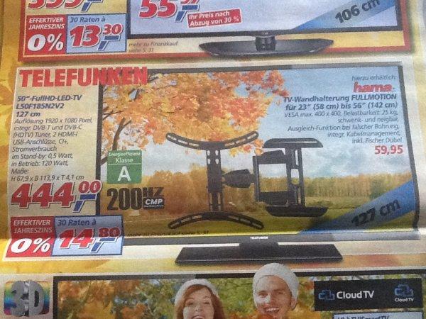 """(Bundesweit) REAL Markt 50"""" FullHD-LED-TV Telefunken L50F185N2V2"""