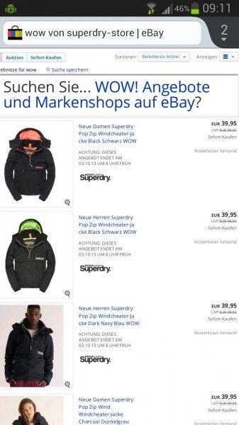 [Ebay] SuperDry Jacken für 39,95€