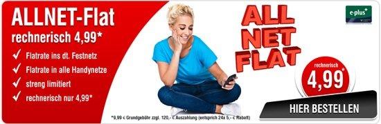 Allnet Flat für 4,99 € im Monat bei www.studentenangebote.de - nicht nur für Studenten