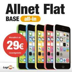 Apple iPhone 5C 16GB Handy im Base All-in Tarif für 765 EUR