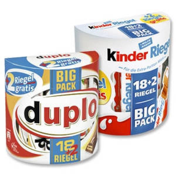 BigPack Kinderriegel / Duplo für 2,49€ oder Chipsfrisch versch. Sorten 0,95€NUR heute im Netto
