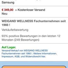 Samsung Galaxy S4, NEU [Amazon Marketplace], 349€