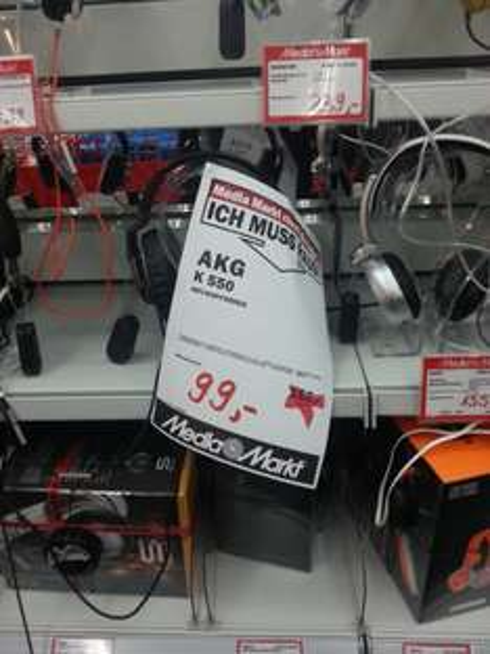 [Lokal MM Fulda] Kopfhörer: AKG K 495 NC für 130€ (Geizhals ab 229€) und AKG K 550 für 99€ (Geizhals ab 138€)