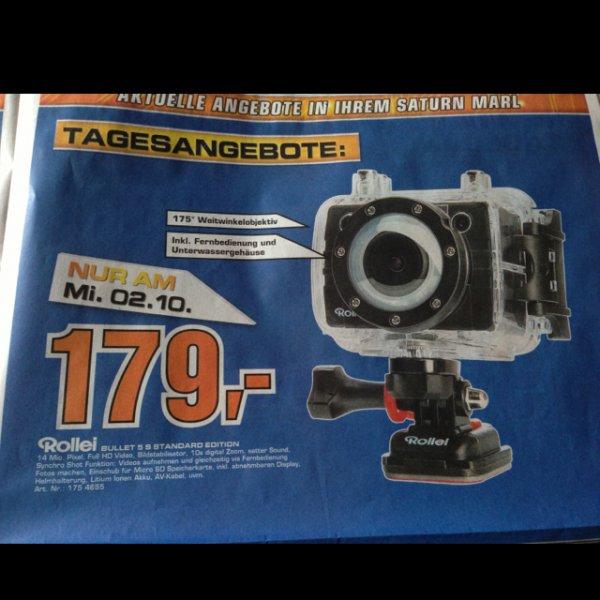 Rollei Bullet 5s Actioncam im Tagesangebot bei Saturn, 179€
