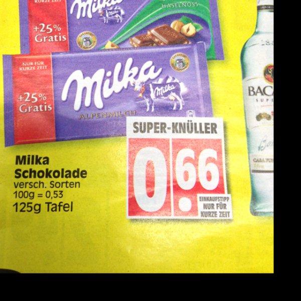 Milka, 125g Tafel @ Edeka (oder Toffifee für 0,88)