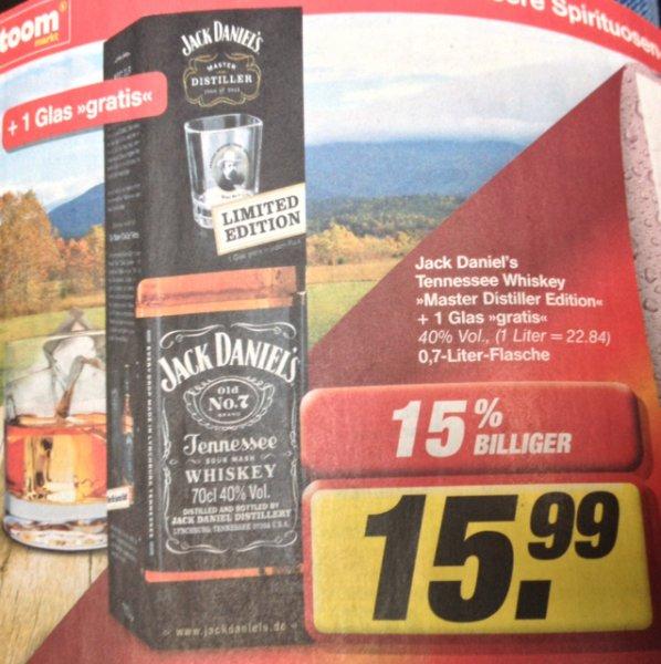 Jack Daniels + Tumbler ab nächste Woche im Toom