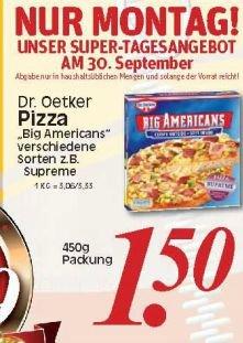 [Kaufpark & Rewe Dortmund] Dr. Oetker Big American Pizza - nur am 30.09.