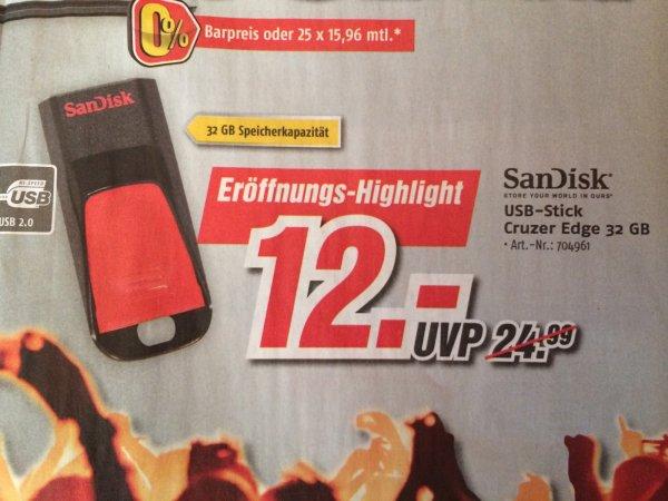 Lokal? Sandisk Cruzer Edge 32 GB für 12 Euro bei Medimax Fulda