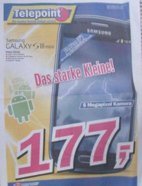 [Regional] Samsung S III Mini für 177,- € @Telepoint