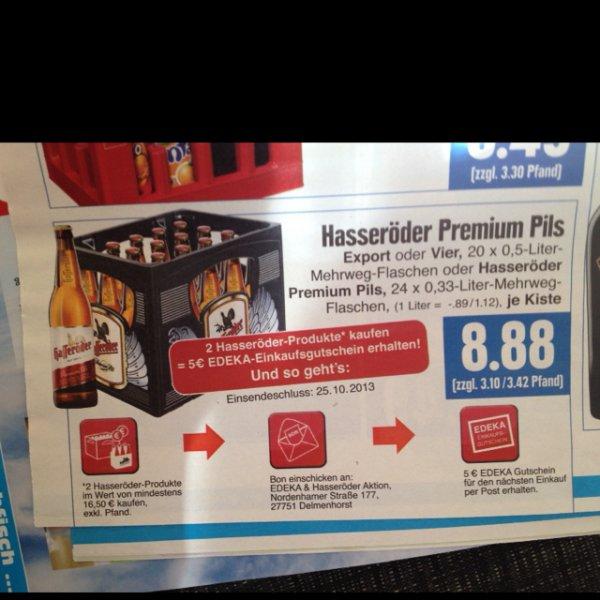 Hasseröder 2 Kisten für 12.76€