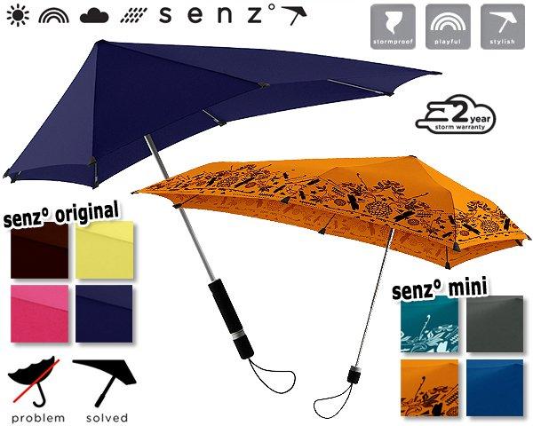 [guut.de] windbeständiger Regen-/Sonnenschirm SENZ (Original oder Mini)