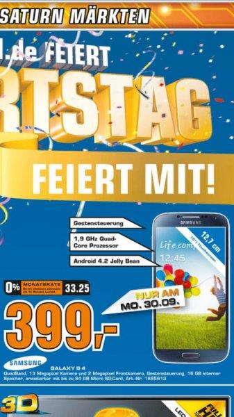 [LOKAL - KÖLN] Samsung Galaxy S4 - Saturn - nur Morgen!