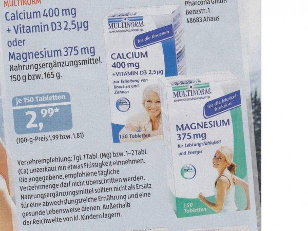 MULTINORM Magnesium 375 mg (150 Tabletten) bei Aldi-Süd für 2,99€ - Bundesweit