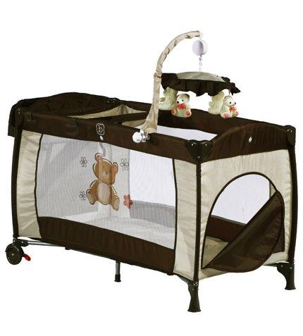 Kinder/Baby Reisebett auf Rollen mit 2 Einlagen und Musik-Mobilee für nur 44,90 EUR inkl. Lieferung