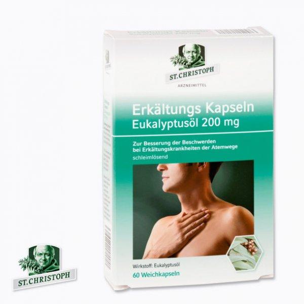 Erkältungs Kapseln Eukalyptusöl 200 mg 60 Stück 2,99 € - Aldi Nord
