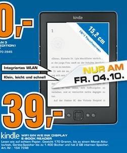 [Saturn Stuttgart/Esslingen] Kindle für 39€ - nur 4.10