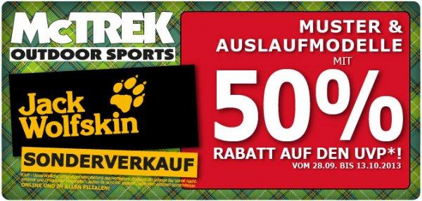 Jack Wolfskin Sonderverkazf bei McTREK 50% Rabatt