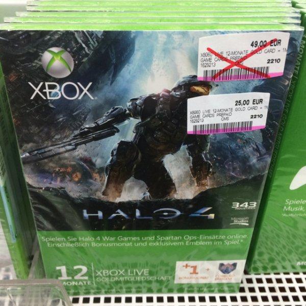 12+1 Monate Xbox Live Gold Halo4 Edition für 25€ im MediaMarkt Hildesheim