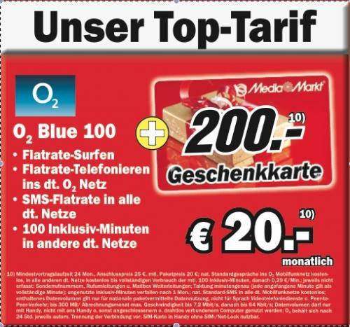 o2 Blue für ab effektiv 12,70 € im Monat