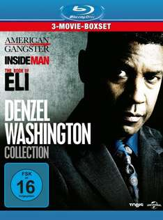 3-Movie-Boxsets z.B. Denzel Washington Collection [Blu-ray] mit American Gangster, Inside Man und The Book of Eli für 16,97 € @Amazon.de