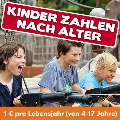 Im Heide-Park zahlen Kinder nach Alter