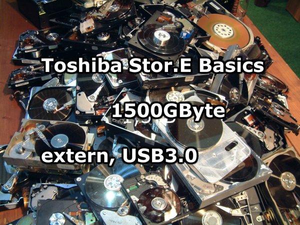 Toshiba Stor.E Basics 1500GB USB 3.0 2,5'' schwarz HDTB115EK3BA ! 72,74€ @conrad