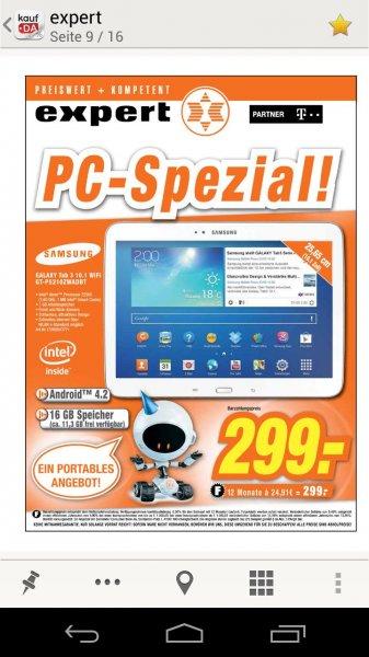 Offline Expert Region Hannover: Samsung Galaxy Tab 3 10.1 Wifi 16 GB weiß, bei Bedarf noch 0% Finanzierung für 12 Monate