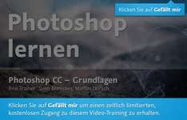 Das Photoshop CC Training von video2brain ist derzeit gratis verfügbar!