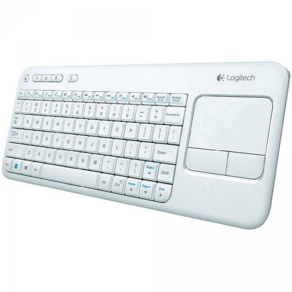 Logitech K400r kompakte Tastatur mit Touchpad weiß/schwarz + 7x Tesafilm (Update für alle nur 22,84€)