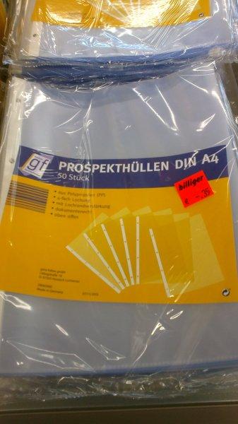 Lokal Aldi Bremen Ritterhude: 50 A4-Prospekthüllen für 35 cent