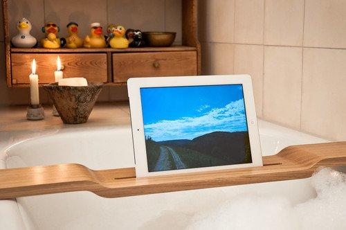 iPad und tablet Halterung für die Badewanne von WOOD U? RELAX