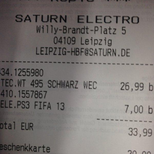 [Lokal] FIFA 13 PS3 - 7 Euro - Saturn Leipzig HBF